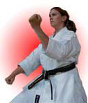 "Anne ""Bob"" Herlihy 4th Dan - performing the advanced kata ""Jiin"""